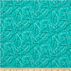 Contempo Zentastic Scribble Leaf Aquamarine
