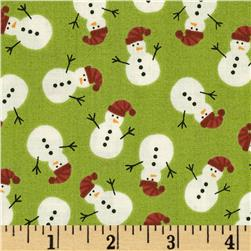 Christmas Mini Snowmen Green