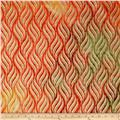 Indian Batik Montego Bay Metallic Wheat Grains Orange