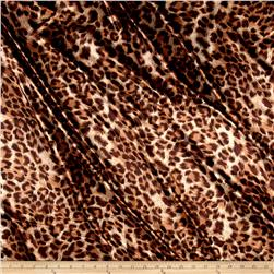 Charmeuse Satin Leopard Brown