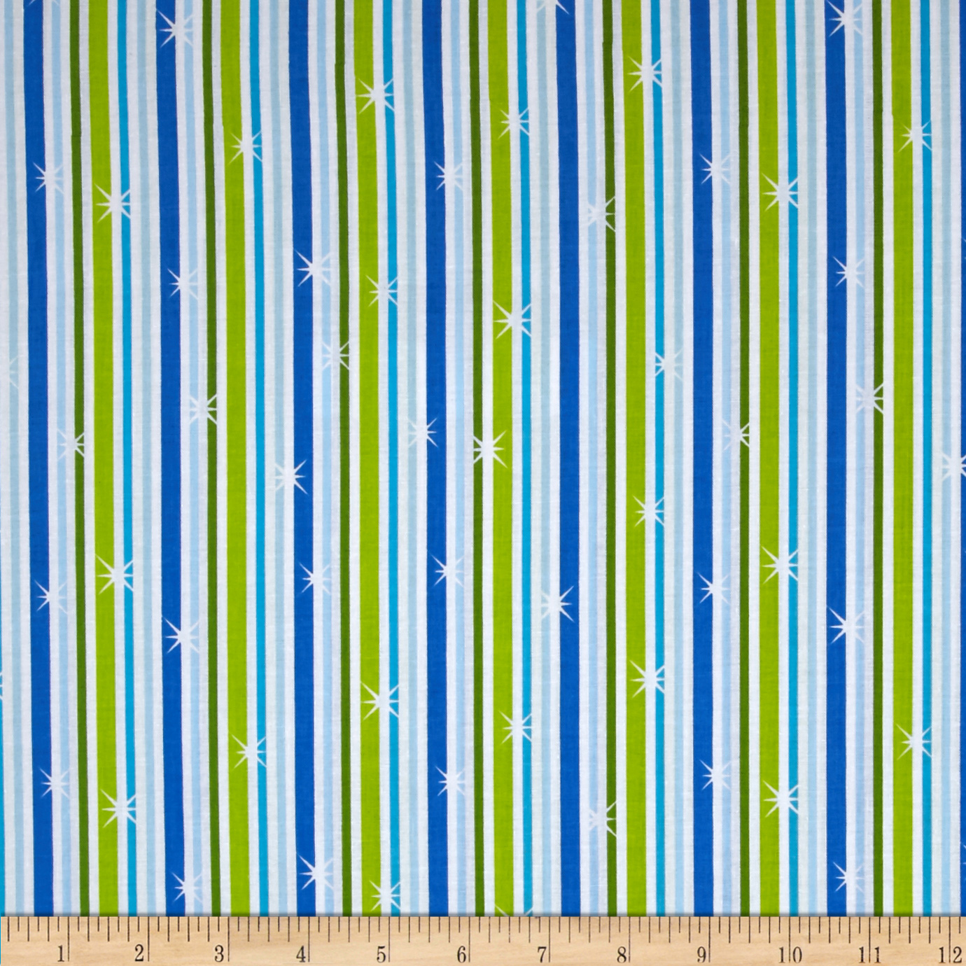 Silly Snowman Stripe Blue Fabric by Quilting Treasures in USA