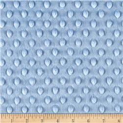 Michael Miller Minky Solid Dot Light Blue