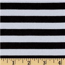 Designer Jersey Knit Stripe Black/White