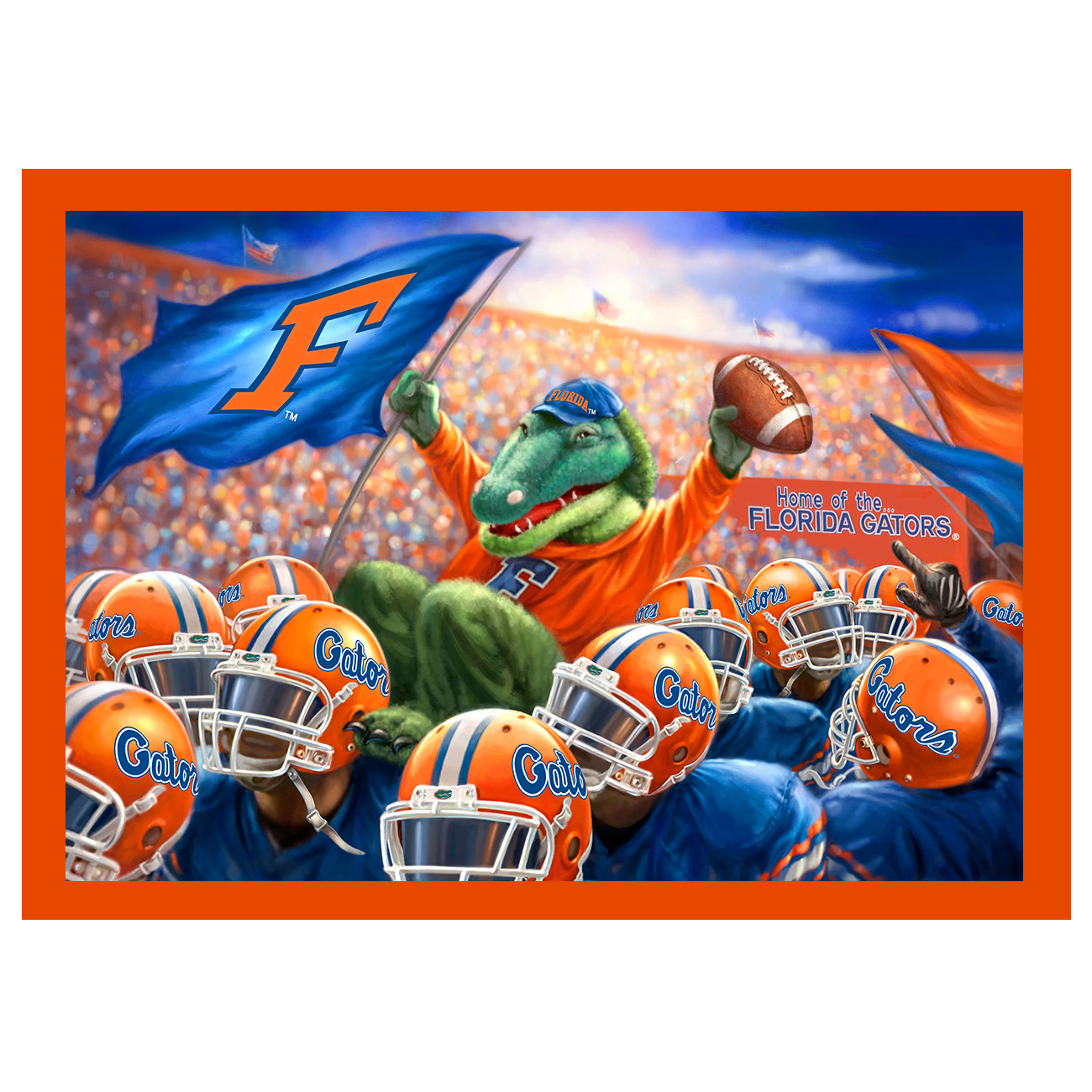 Collegiate Fleece Panel University of Florida Blue Fabric
