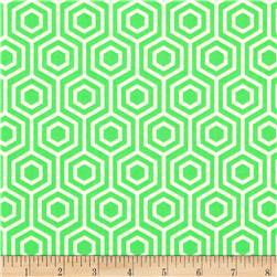 Neon & On Honeycomb Neon Green Fabric