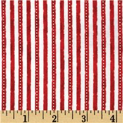 Winter Celebration Mini Stripe Red Fabric