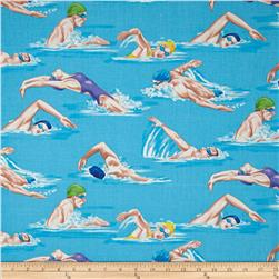 Swimmers Pool Blue
