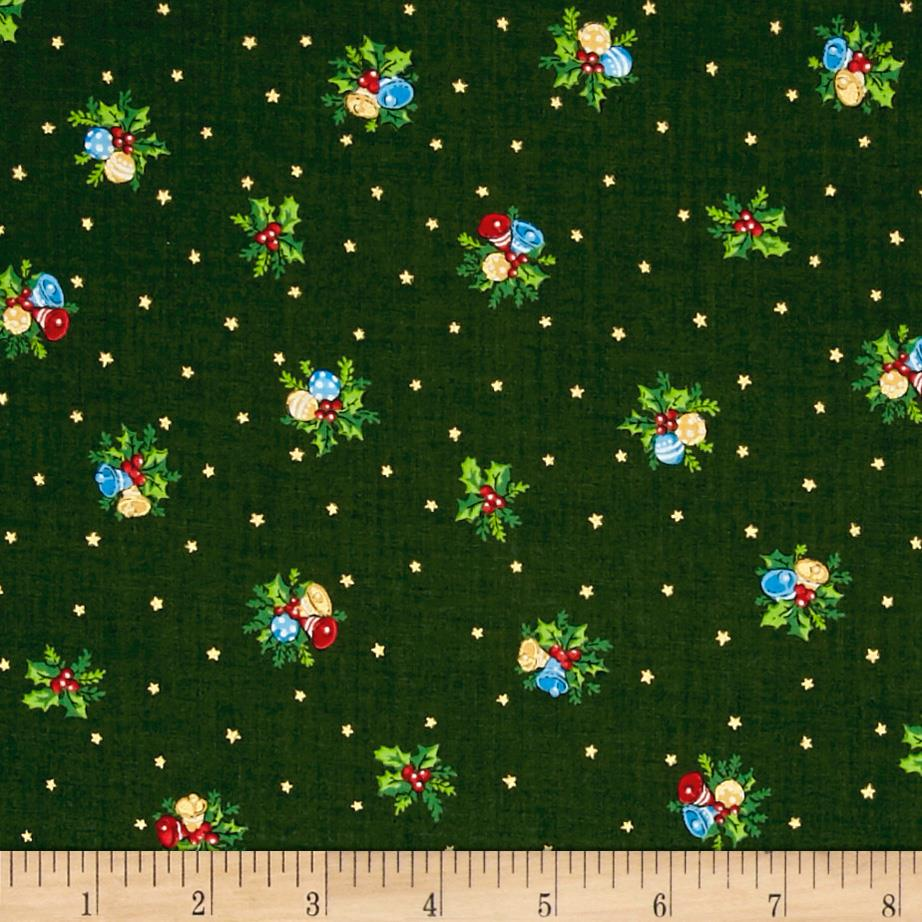 Under The Christmas Tree Bells And Holly Green