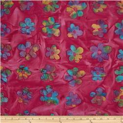 Indian Batik Flowers Fuchsia