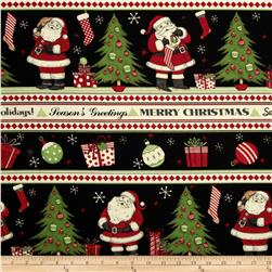 Debbie Mumm Jolly Christmas Repeating Stripe Multi Fabric