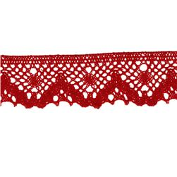 "Riley Blake Sew Together 1 1/4"" Crocheted Lace Trim Red"