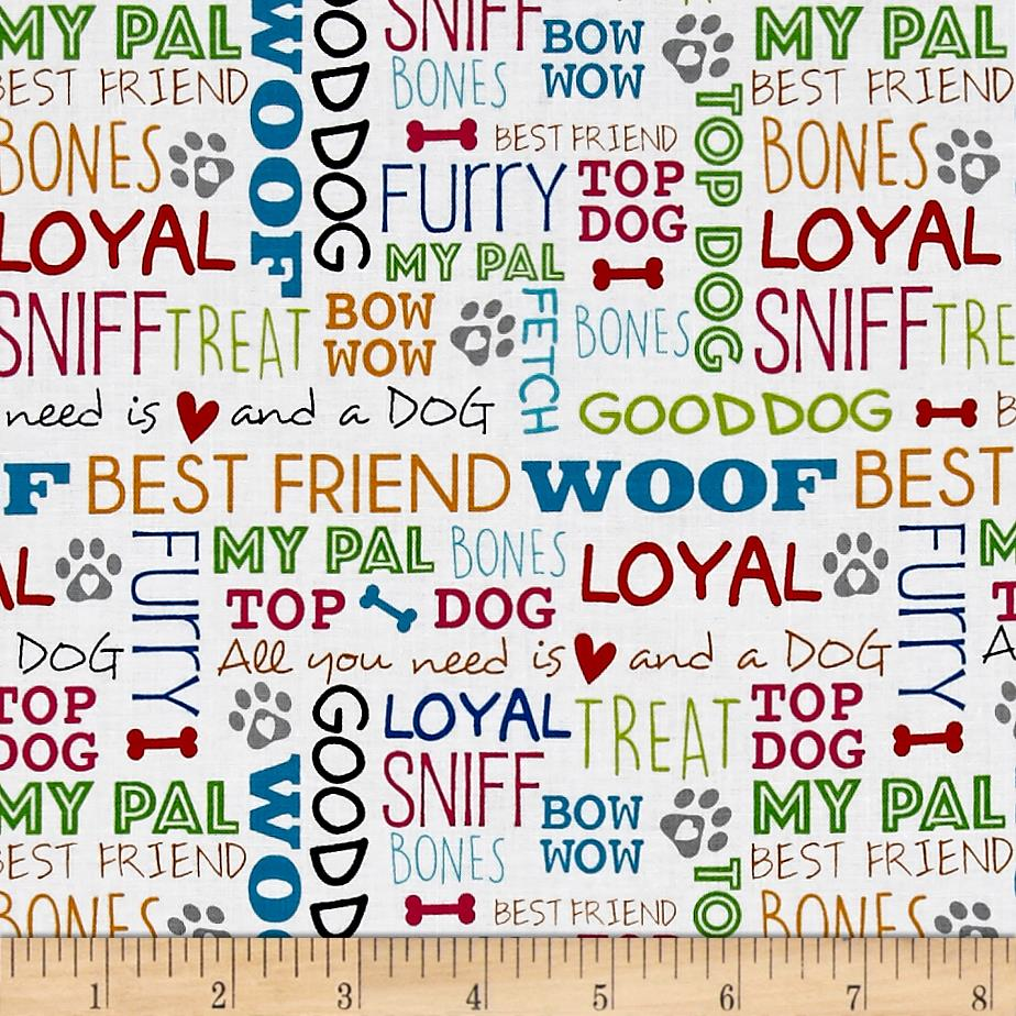 Must Love Dogs Dog Words White