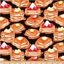 Kanvas Breakfast Club Pancakes Black Fabric