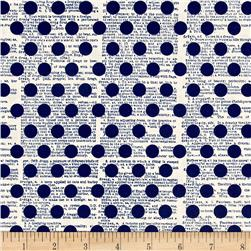 Riley Blake Lost & Found America Dots Navy