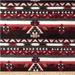 Printed Fleece Aztec Black/Maroon