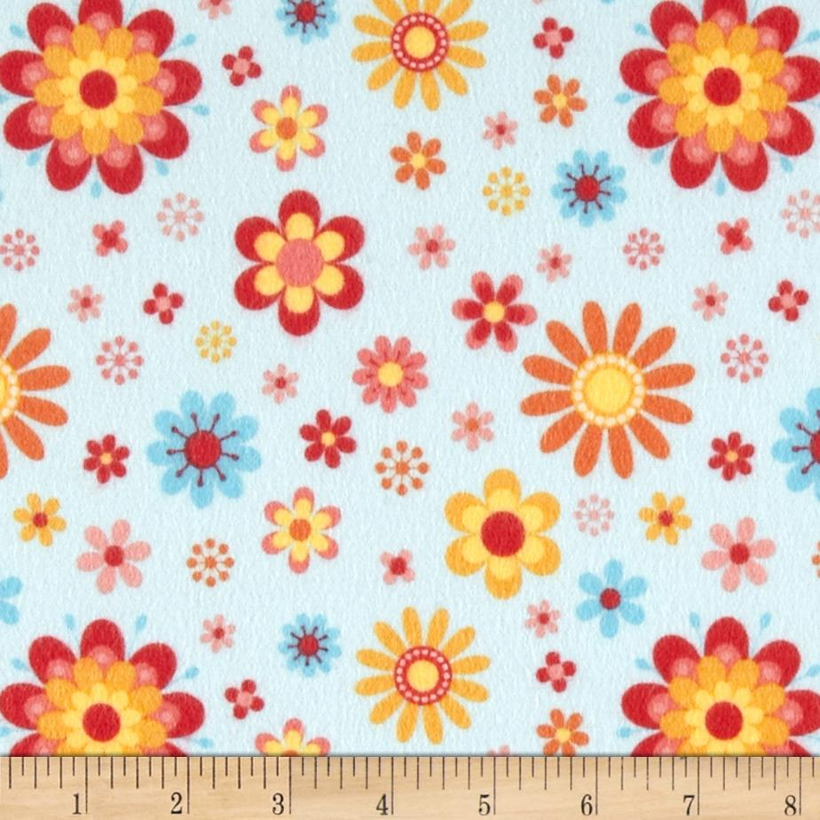 Riley Blake Just Dreamy 2 Flannel Floral Blue