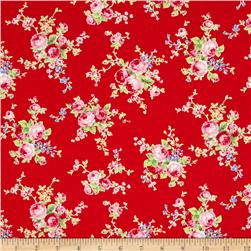 Lecien Flower Sugar Floral Trail Red
