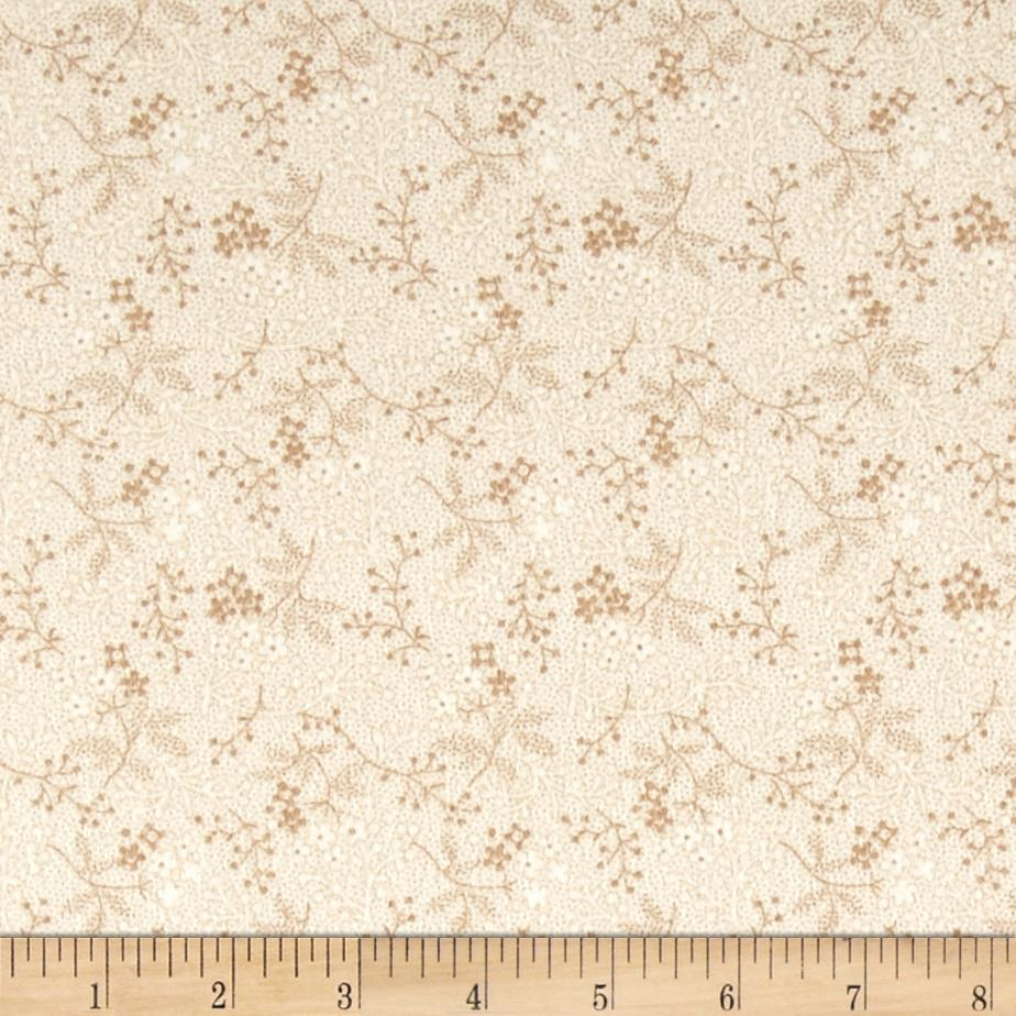 Cozies Flannel Twigs Tan Fabric By The Yard