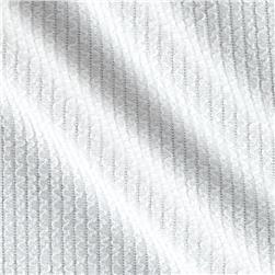 Liver Pool Double Knit Vertical Squiggle Embossed White