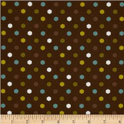 Metro Hexagon Dots Brown
