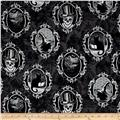 Fright Night Metallic Halloween Motif Frames Gray