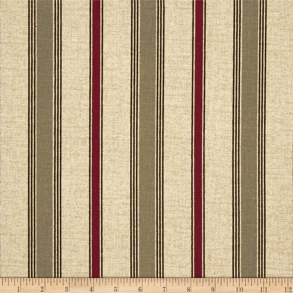 Premier Prints Terrace Stripe Khaki/Red