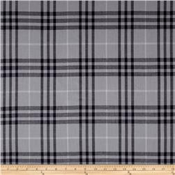 Burberry Designer 3-Ply Cotton Voile Plaid Black/Grey
