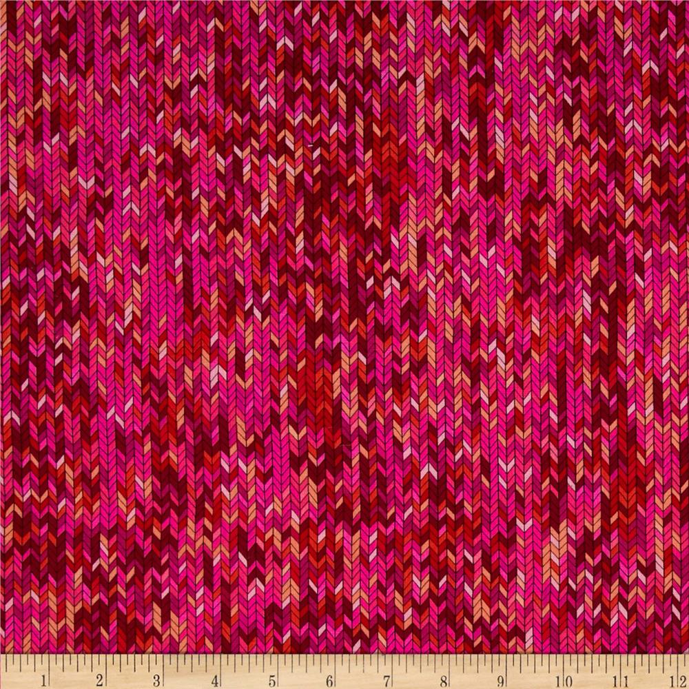 Kanvas In Stitches Knit Stitch Pink