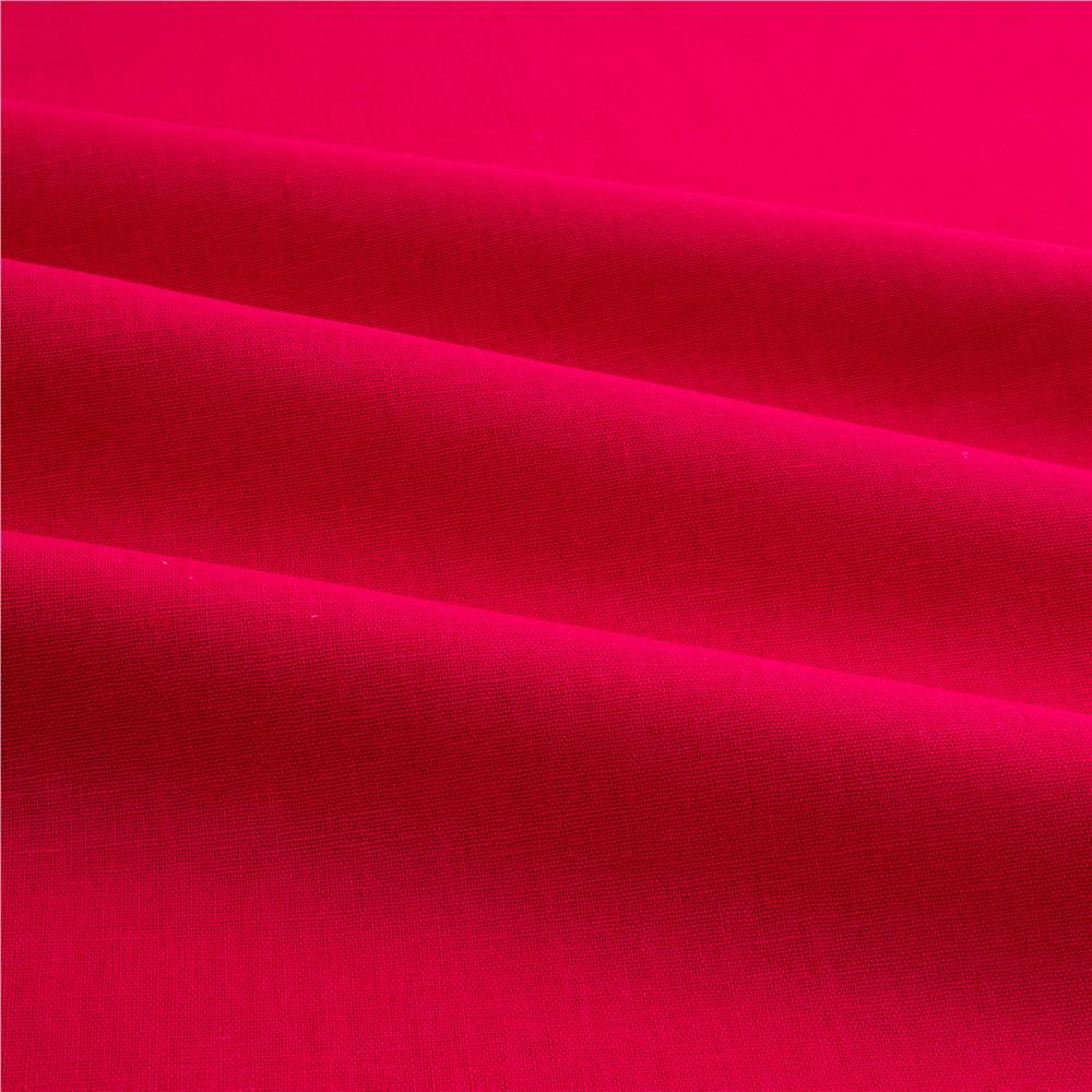 Kaufman Essex Linen Blend Hot Pink Discount Designer