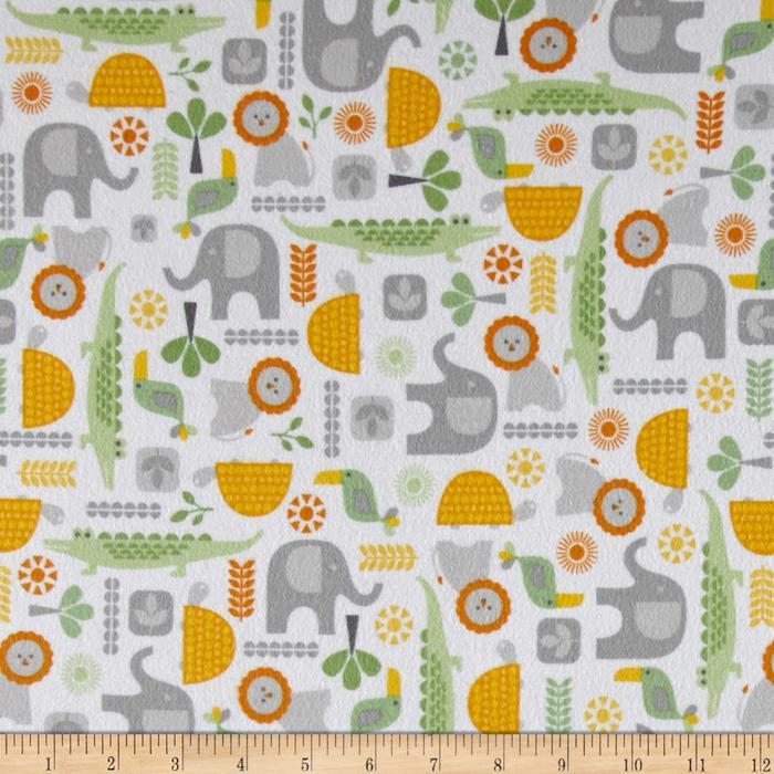 Kaufman Wild Bunch Flannel Animal Collage Nature