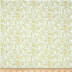 Pearle Gold Scroll White/Gold Pearl
