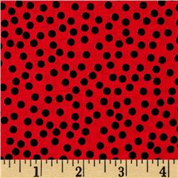 Lazy Little Ladybugs Dots Red
