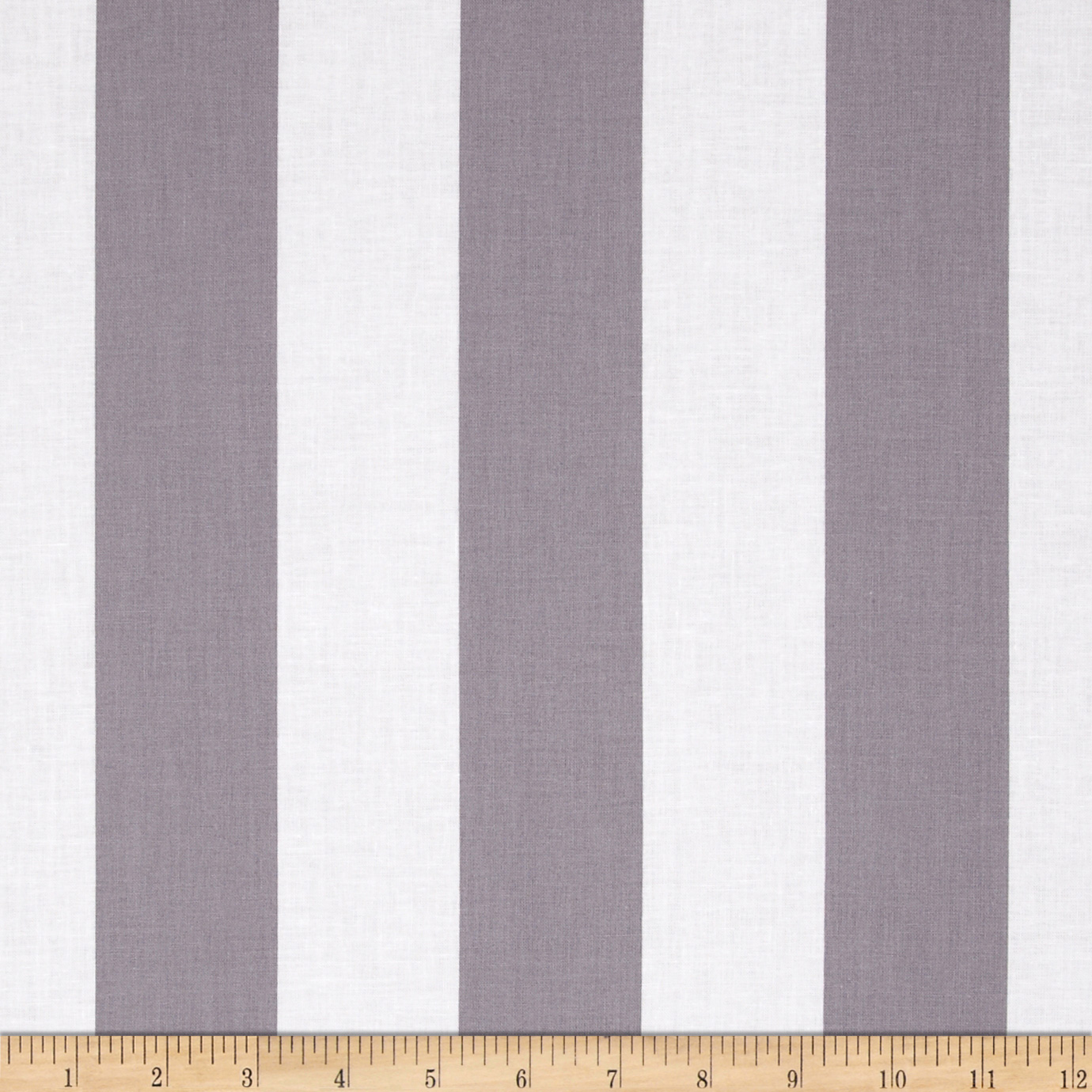 Riley Blake 2'' Stripe Grey Fabric