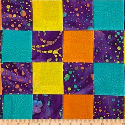 Indian Batik Pre-Sewn Patchwork Dots Purple