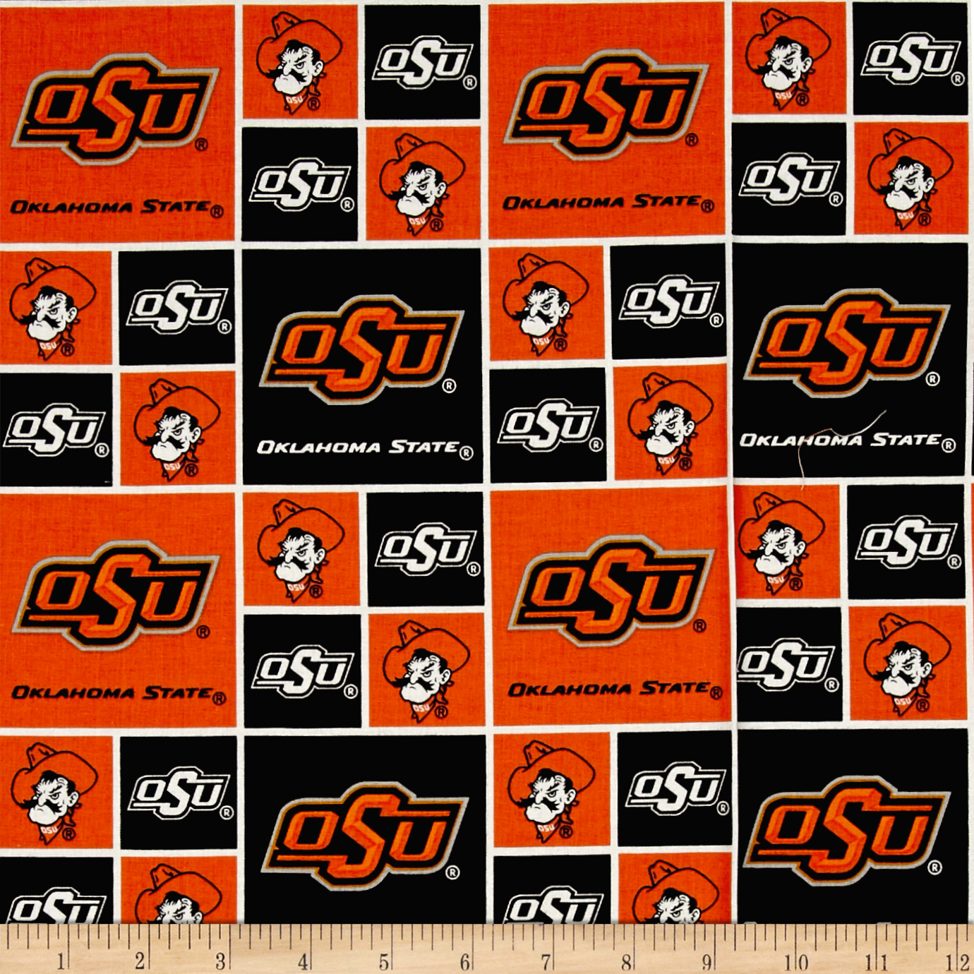 Collegiate Cotton Broadcloth Oklahoma State University Cowboys Fabric AP-664