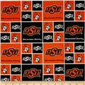 Collegiate Cotton Broadcloth Oklahoma State University Cowboys