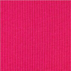 Rib 2x1 Knit Solid Hot Pink