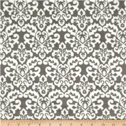 Minky Cuddle Classic Damask Charcoal/White Fabric