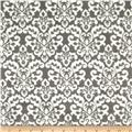 Minky Cuddle Classic Damask Charcoal/White