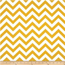 Premier Prints Indoor/Outdoor Zig Zag Citrus Yellow Fabric
