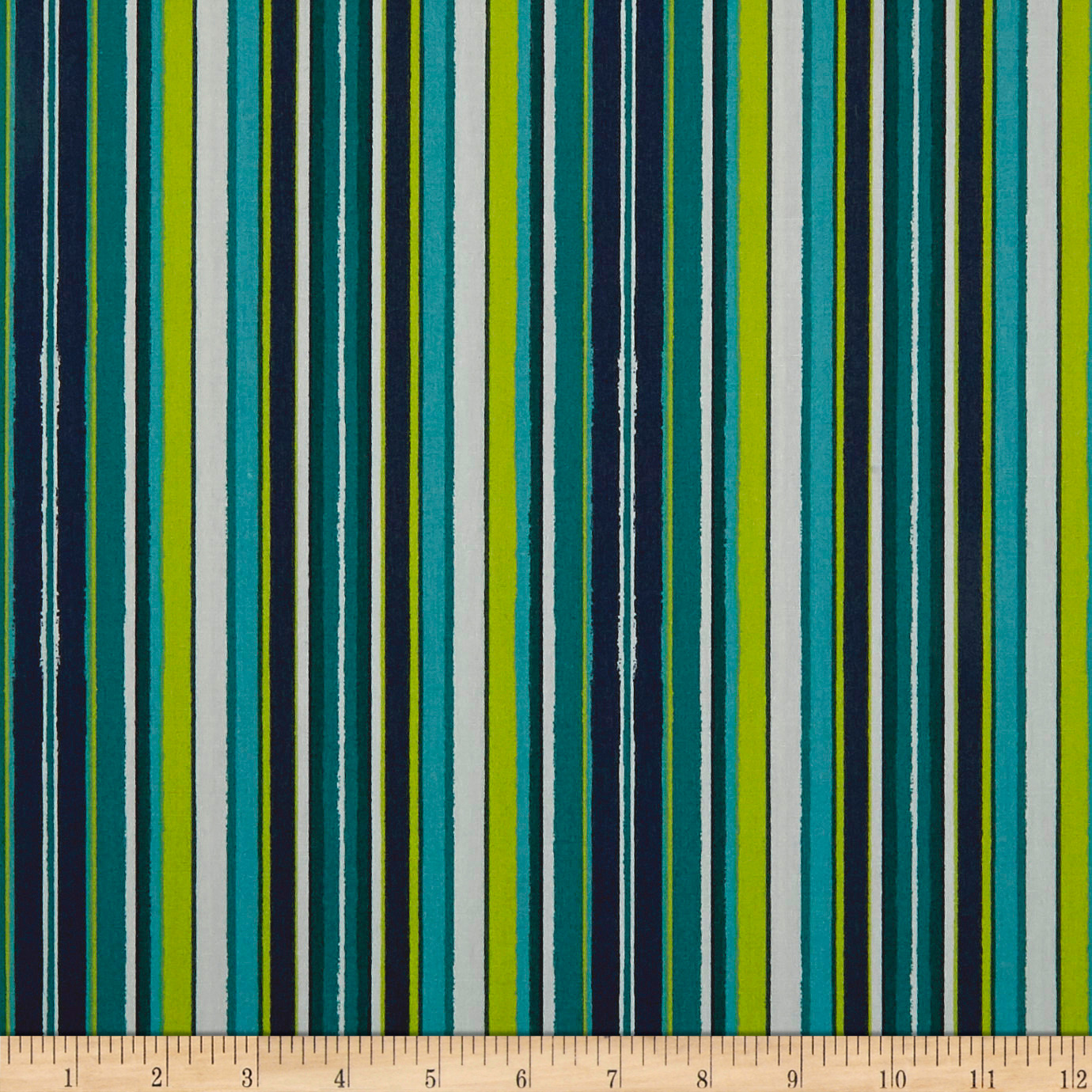 Art Gallery Loved To Pieces Striped Flow Marine Teal Fabric