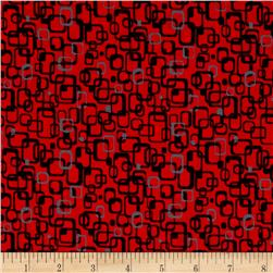 Graphix 3 Link Squares Red/Black