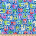 Fabric Follies Sewing Machines Dark Blue