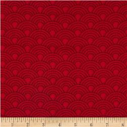 French Laundry Tonal Scallop Red Fabric