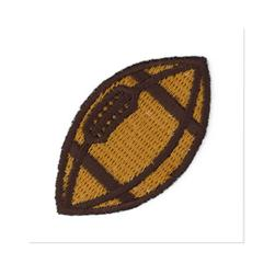 Boutique Applique Football Brown/White