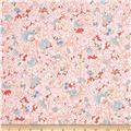 Kaufman London Calling Lawn Tight Floral Coral