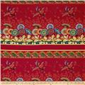 April Cornell Gypsy Dance Gypsy Border Red