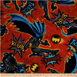 Batman Fleece Kaboom! Crash! Red/Multi