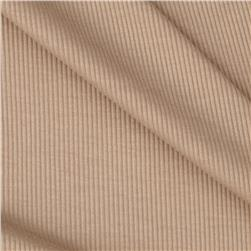 Stretch Rayon Rib Knit Tan
