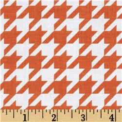 Riley Blake Medium Houndstooth Orange Fabric